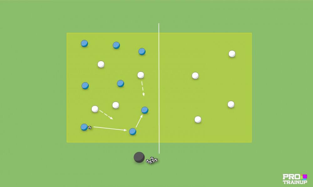 Mała gra 8v4 z przejściem (Rys.2)