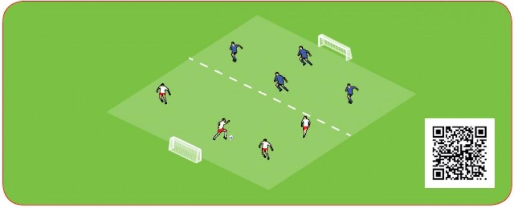 Gra na 2 bramki-przejście zawodników na połowę przeciwnika