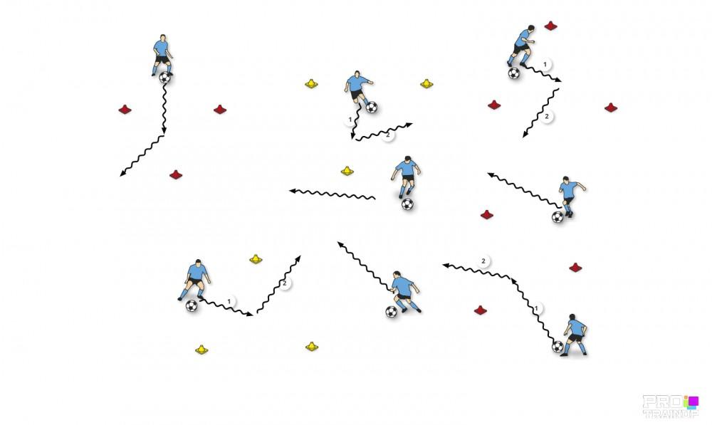 Prowadzenie piłki + zwody