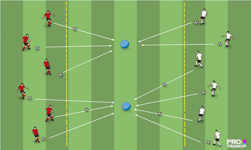 Zabawa - Przebij piłkę na drugą stronę