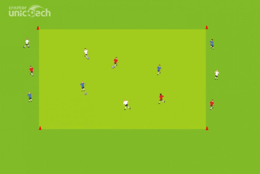 Doskonalenie techniki przyjęć i podań piłki