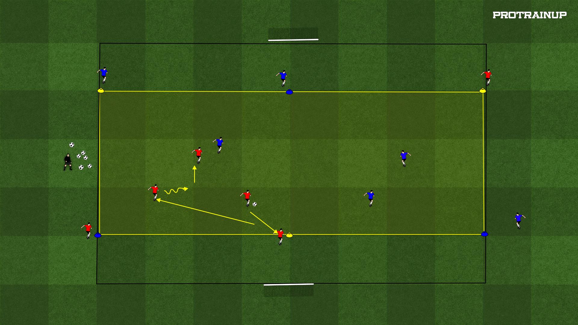Gra na utrzymanie 3x3 z 3 zewnętrznymi