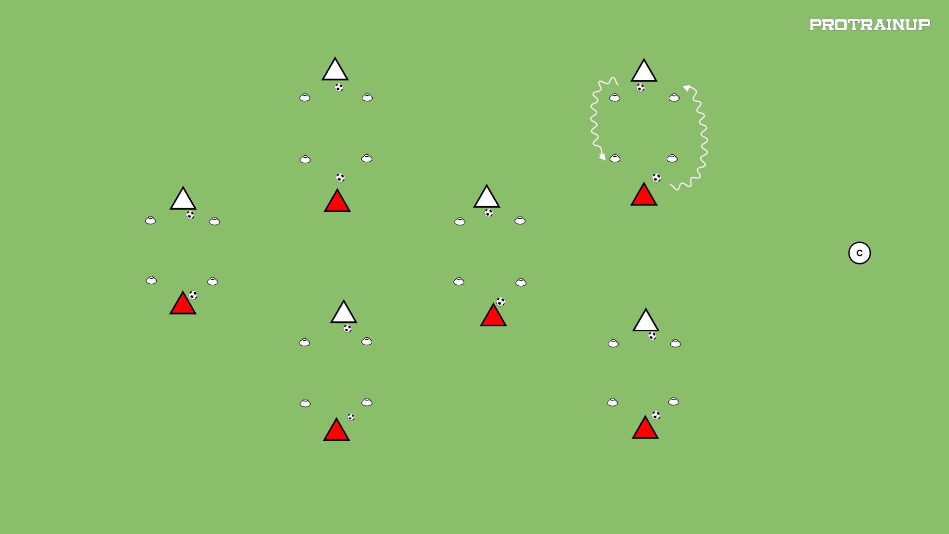 Złap partnera z piłkami - kwadrat A