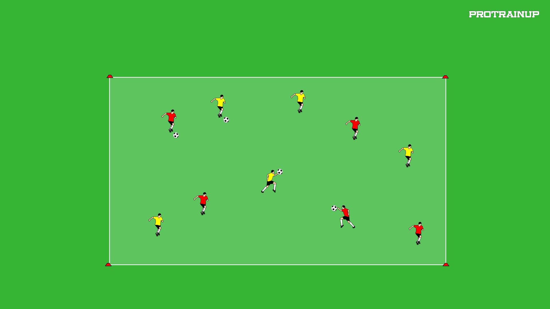 Różne formy biegu + podania piłki