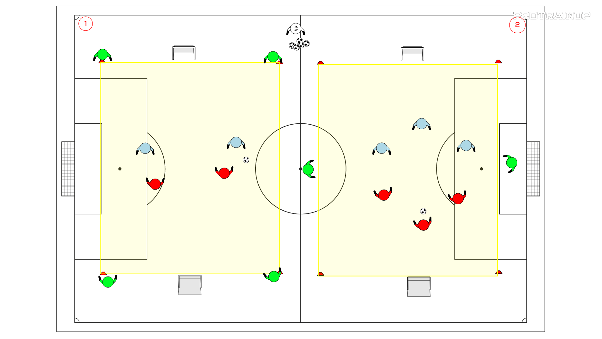 skill game - combinations play in 2x2 and 3x3 situations