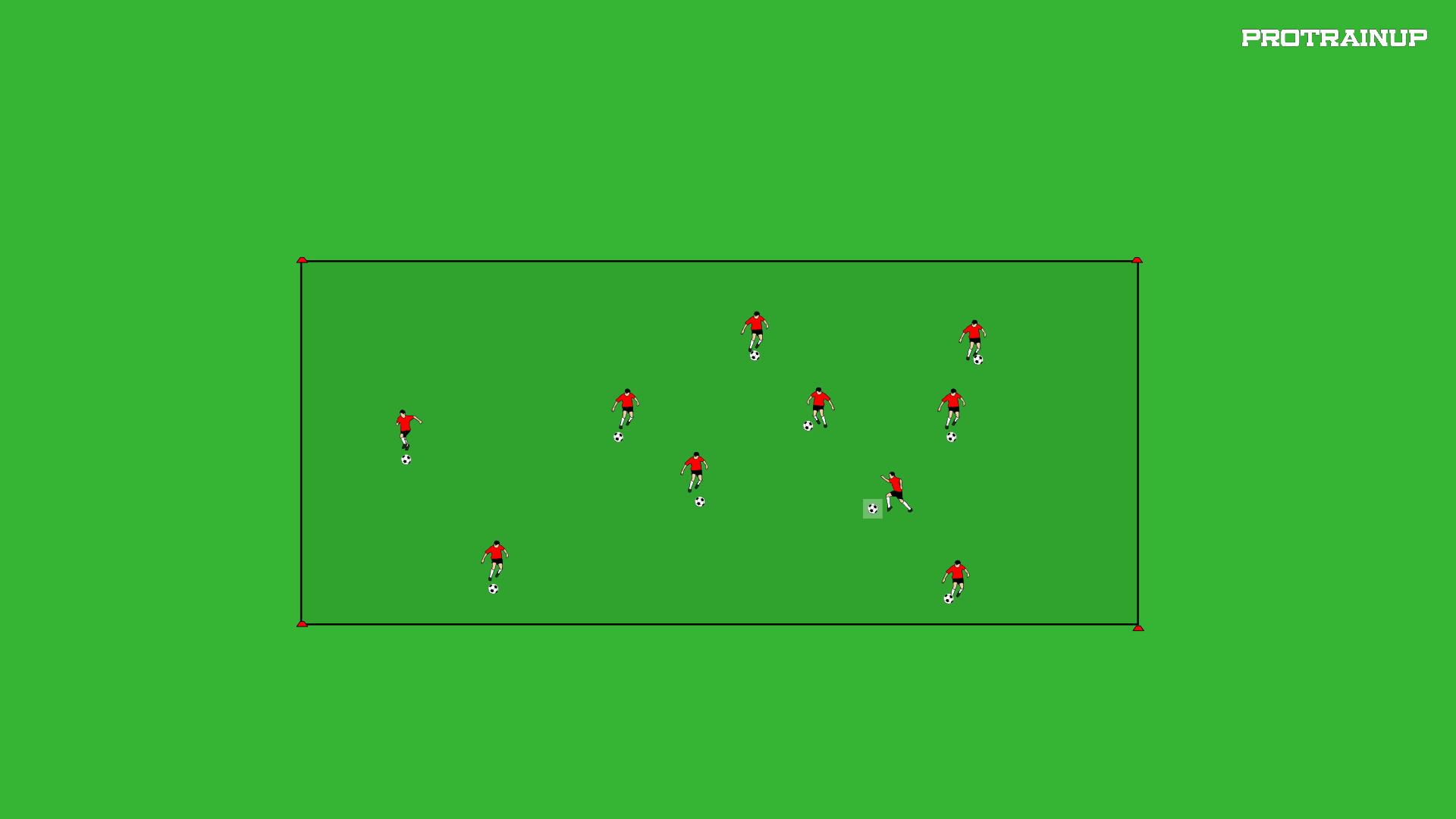 Prowadzenie piłki, zatrzymanie różnymi częściami ciała